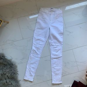 Paige White Skinny Jeans size 25